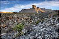 Rising 8,085 feet out of the Chihuahuan Desert, El Capitan is said to be the most well recognized Texas peak. At the forefront of Guadalupe Mountains National Park, El Cap served as a landmark for those traveling the Old Butterfield Overland Stagecoach route. Guadalupe Peak, at 8.749 feet, rests behind El Capitan and is the highest peak in Texas. El Capitan is the 8th tallest point in the state.
