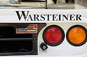 The tail lamps of a McLaren F1 race car