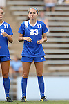 22 August 2014: Duke's Danielle Duhl. The Duke University Blue Devils played The Ohio State University Buckeyes at Fetzer Field in Chapel Hill, NC in a 2014 NCAA Division I Women's Soccer match. Ohio State won the game 1-0.