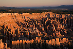Bryce Canyon National Park, sunrise, Rock formations, hoodoos of Silent City in Ampitheater, erosion, arid, Utah, UT, Southwest America, American Southwest, US, United States, Image ut363-17592, Photo copyright: Lee Foster, www.fostertravel.com, lee@fostertravel.com, 510-549-2202