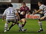 Jamie Robinson takes on Duncan Bell. Cardiff Blues V Bath, EDF Energy Cup.  &copy; Ian Cook IJC Photography iancook@ijcphotography.co.uk www.ijcphotography.co.uk