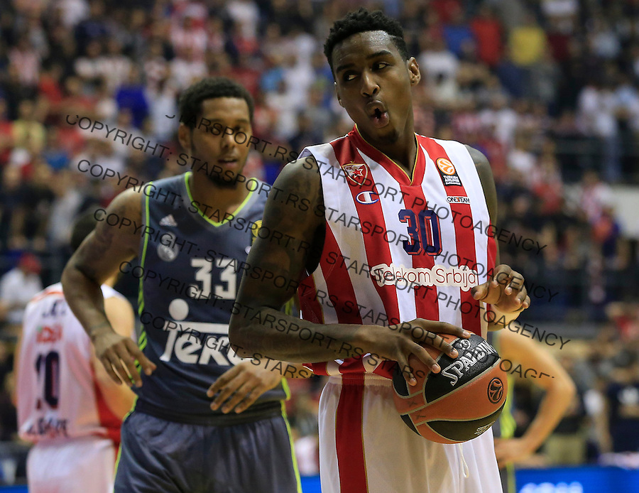Kosarka Euroleague season 2015-2016<br /> Euroleague <br /> Crvena Zvezda v Real Madrid<br /> Quincy Miller and Trey Thompkins (L)<br /> Beograd, 27.11.2015.<br /> foto: Srdjan Stevanovic/Starsportphoto &copy;