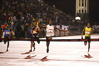 Usain Bolt on his way to to setting the World Record in the 100m with a time of 9.72sec. at the Reebok Grand Prix held at Icahn Stadium on Saturday, May 31, 2008. Photo by Errol Anderson,The Sporting Image.
