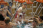Lehi High School swimmer Amy Chapman looks on during practice at the Lehi Legacy Center, Tuesday, Dec. 18, 2012. Chapman, 17, was born with fibular hemimelia and had both legs amputated when she was 13 months old.