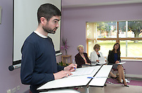***NO FEE PIC ***<br /> 11/06/2014<br /> Cormac McDonnell from Crosscare<br /> during The Mercy Law Resource Centre's Annual Report for 2013 at Sophia Housing on Cork Street, Dublin.<br /> Photo:  Gareth Chaney Collins