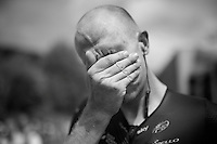 Ian Stannard's (GBR/Sky) sweaty post-race face<br /> <br /> Stage 18 (ITT) - Sallanches &rsaquo; Meg&egrave;ve (17km)<br /> 103rd Tour de France 2016