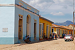 Central America, Cuba, Trinidad. Street scene of Trinidad, Cuba.