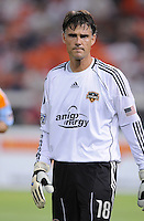 Houston Dynamo goalkeeper Pat Onstad.  The Houston Dynamo defeated DC United 3-1, at RFK Stadium, Saturday September 25, 2010.