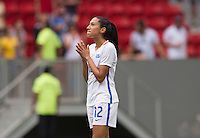 Brasilia, Brazil - August 12, 2016: The USWNT lost to Sweden 4-3 on penalty kicks after tying 1-1 in extra time in the quarterfinals of the 2016 Olympics at Mane Garrincha Stadium.