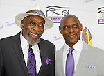 actor Bill Cobbs received the Sidney Poities LIfelong Achievement Award and poses with friend Neal Hodges at The National Black Theatre Festival with a week of plays, workshops and much more with an opening night gala of dinner, awards presentation followed by Black Stars of the Great White Way followed by a celebrity reception. It is an International Celebration and Reunion of Spirit. (Photo by Sue Coflin/Max Photos)
