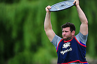Nathan Catt of Bath Rugby in action. Bath Rugby pre-season skills training on June 21, 2016 at Farleigh House in Bath, England. Photo by: Patrick Khachfe / Onside Images