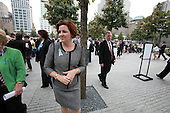 On the 10th anniversary of the September 11th attacks, New York City Council Speaker Christine Quinn pauses for a moment of reflection at the South Memorial Pool at opening day of the September 11th Memorial at the World Trade Center site in New York, New York on Sunday, September 11, 2011..Credit: Jefferson Siegel / Pool via CNP