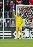 Sporting KC goalkeeper Eric Kronberg #18 in action during an MLS game between Sporting Kansas City and the Toronto FC at BMO Field in Toronto on June 4, 2011..The game ended in a 0-0 draw...