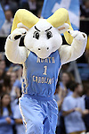 02 February 2015: Rameses, UNC's mascot. The University of North Carolina Tar Heels played the University of Virginia Cavaliers in an NCAA Division I Men's basketball game at the Dean E. Smith Center in Chapel Hill, North Carolina. Virginia won the game 75-64.