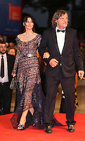 VENICE, ITALY - SEPTEMBER 09: Monica Bellucci &amp; Emir Kusturica attends the premiere of 'On The Milky Road' during the 73rd Venice Film Festival a Sala Grande on September 9, 2016 in Venice, Italy.<br /> CAP/GOL<br /> &copy;GOL/Capital Pictures /MediaPunch ***NORTH AMERICA AND SOUTH AMERICAS ONLY***