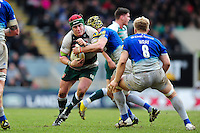 Marcos Ayerza of Leicester Tigers takes on the Saracens defence. Aviva Premiership match, between Leicester Tigers and Saracens on March 20, 2016 at Welford Road in Leicester, England. Photo by: Patrick Khachfe / JMP