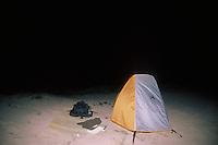 Campsite, Polihale Beach, Kauai, Hawaii, US