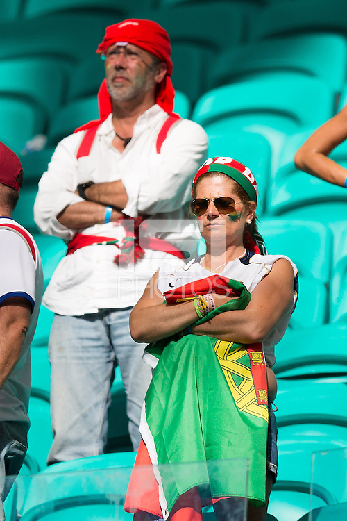 A dejected Portugal fan