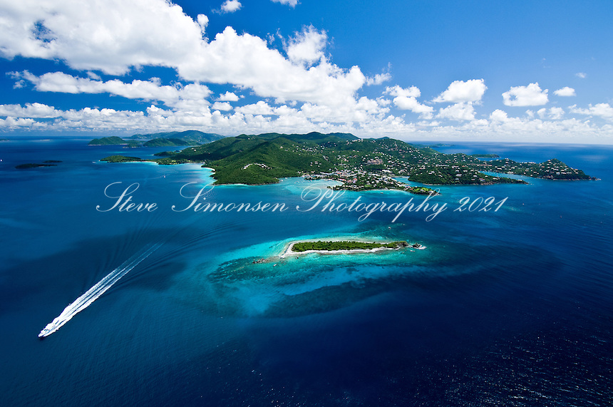 Aerial view of St John<br />