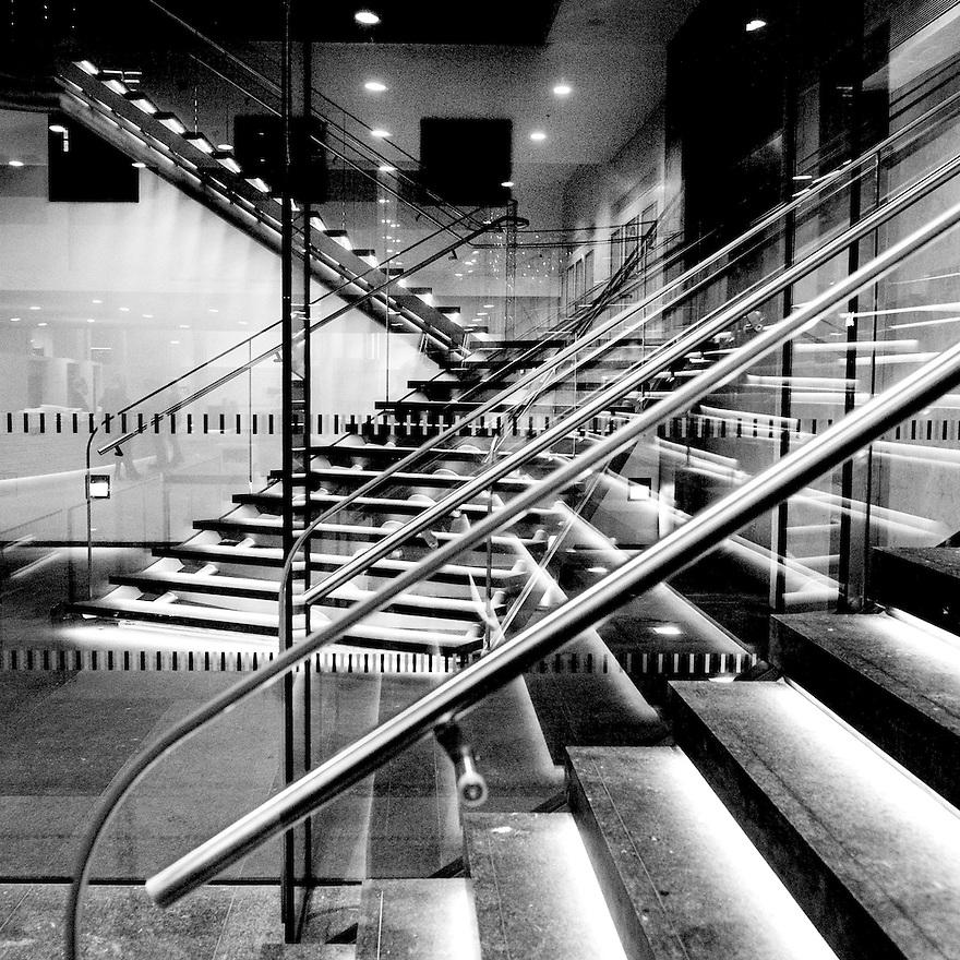 Nederland, Den Haag, 4 dec 2013<br /> Entree van het Mauritshuis<br /> <br /> Foto: (c) Michiel Wijnbergh