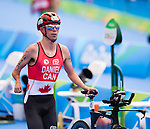 RIO DE JANEIRO - 10/9/2016:  Stefan Daniel, of Calgary, AB, competes in the men's traithalon at Fort Copacabana during the Rio 2016 Paralympic Games.