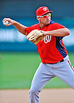 6 March 2012: Washington Nationals third baseman Ryan Zimmerman warms up prior to a Spring Training game against the Atlanta Braves at Champion Park in Disney's Wide World of Sports Complex, Orlando, Florida. The Nationals defeated the Braves 5-2 in Grapefruit League action. Mandatory Credit: Ed Wolfstein Photo