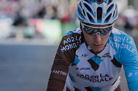 Romain Bardet (FRA/AG2R-LaMondiale) off to the start<br /> <br /> 81st La Fl&egrave;che Wallonne (1.UWT)<br /> One Day Race: Binche &rsaquo; Huy (200.5km)