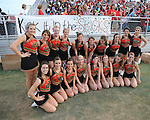 Lafayette High cheerleaders at William L. Buford Stadium in Oxford, Miss. on Friday, September 2, 2011. Lafayette won 40-12