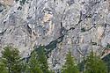 Ajdovska deklica (the Heathen Maiden), a face on the northern rock face of mount Prisojnik. Triglav National Park, Julian Alps, Slovenia. July.