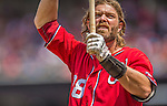28 July 2013: Washington Nationals outfielder Jayson Werth at bat during a game against the New York Mets at Nationals Park in Washington, DC. The Nationals defeated the Mets 14-1. Mandatory Credit: Ed Wolfstein Photo *** RAW (NEF) Image File Available ***