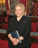 Washington, DC - January 27, 2009 -- United States Senator Kirsten Gillibrand (Democrat of New York) waits in the Old Senate Chamber to recreate her swearing-into office with United States Vice Joseph Biden in the United States Capitol in Washington, D.C. on Tuesday, January 27, 2009..Credit: Ron Sachs / CNP.(RESTRICTION: NO New York or New Jersey Newspapers or newspapers within a 75 mile radius of New York City)