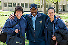 April 24, 2017; Building Services staff members smile for a photo on a spring day. (Photo by Matt Cashore/University of Notre Dame)