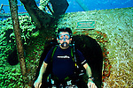 Steven Smeltzer on USS Kittiwake, Grand Cayman