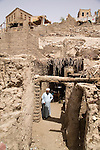 Eltyeb, in front of his sister Zeinab's house, built on a Pharaonic tomb..Qurna, Luxor, Egypt..Photo: Eduardo Martino
