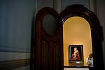 A security guard stands watch in the Crocker Art Museum in Sacramento, California.