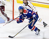 Colin Wright (UML - 8), Michael Matheson (BC - 5) - The Boston College Eagles defeated the visiting University of Massachusetts Lowell River Hawks 6-3 on Sunday, October 28, 2012, at Kelley Rink in Conte Forum in Chestnut Hill, Massachusetts.