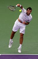 Florent SERRA (FRA) against Roger FEDERER (SUI) in the third round of the men's singles. Roger Federer beat Florent Serra 7-6 7-6..International Tennis - 2010 ATP World Tour - Sony Ericsson Open - Crandon Park Tennis Center - Key Biscayne - Miami - Florida - USA - Mon 29th Mar 2010..© Frey - Amn Images, Level 1, Barry House, 20-22 Worple Road, London, SW19 4DH, UK .Tel - +44 20 8947 0100.Fax -+44 20 8947 0117