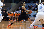 19 November 2014: Oklahoma State's Brittney Martin. The University of North Carolina Tar Heels hosted the Oklahoma State University Cowgirls at Carmichael Arena in Chapel Hill, North Carolina in a 2014-15 NCAA Division I Women's Basketball game. UNC won the game 79-77.