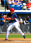 4 March 2009: Washington Nationals' third baseman Ryan Zimmerman in action during a Spring Training game against the New York Mets at Space Coast Stadium in Viera, Florida. The Nationals rallied to defeat the Mets 6-4 . Mandatory Photo Credit: Ed Wolfstein Photo