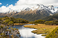 Key Summit with Ailsa Mountains in background, Fiordland National Park, UNESCO World Heritage Area, Southland, New Zealand, NZ