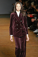 Fei Fei Sun walks runway in an outfit from the Marc by Marc Jacobs Fall/Winter 2011 collection, during New York Fashion Week, Fall 2011.