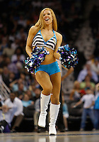 Mar 12, 2010; New Orleans, LA, USA; A New Orleans Hornets Honeybees dancer performs during the second half of a game against the Denver Nuggets at the New Orleans Arena. The Nuggets defeated the Hornets 102-95. Mandatory Credit: Derick E. Hingle-US PRESSWIRE