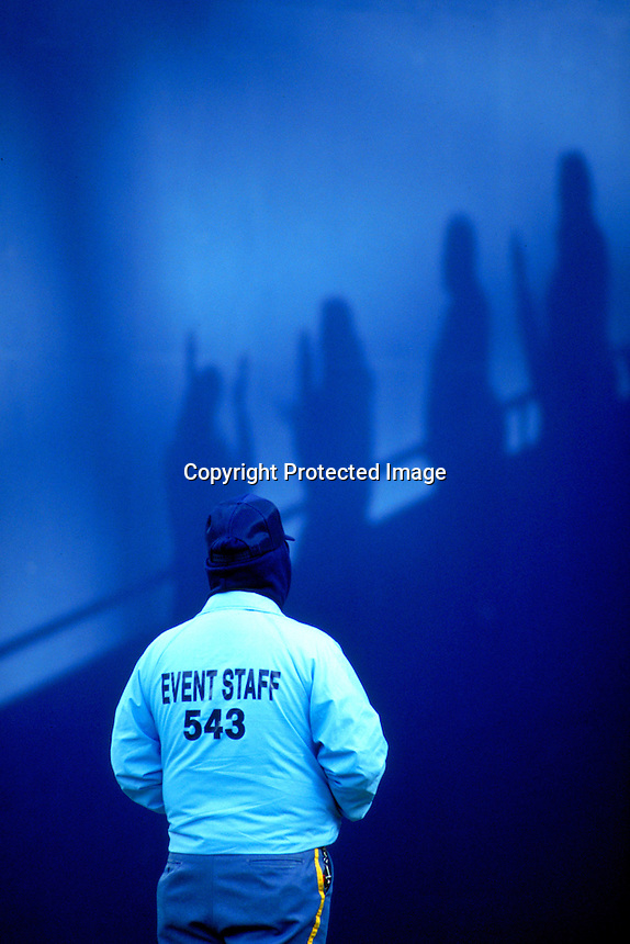 Security Guard, Giants Stadium, Meadowlands, NJ.Photo by Chris Covatta