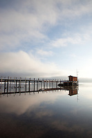 """Pier in Tahoe City 2"" - This pier was photographed near Commons Beach in Tahoe City, CA."