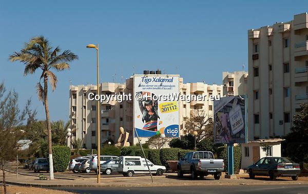 Dakar - Senegal, March 09, 2013 -- Corniche Ouest Sénégal, Mermoz; middle-class-housing, apartments for employees, teachers of the near-by University; Cité des enseignants; infrastructure -- Photo: © HorstWagner.eu