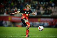 20170411 - LEUVEN ,  BELGIUM : Belgian Lien Mermans pictured during the friendly female soccer game between the Belgian Red Flames and Scotland , a friendly game in the preparation for the European Championship in The Netherlands 2017  , Tuesday 11 th April 2017 at Stadion Den Dreef  in Leuven , Belgium. PHOTO SPORTPIX.BE   DAVID CATRY