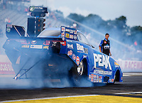Aug 19, 2016; Brainerd, MN, USA; NHRA top alcohol funny car driver Jay Payne during qualifying for the Lucas Oil Nationals at Brainerd International Raceway. Mandatory Credit: Mark J. Rebilas-USA TODAY Sports