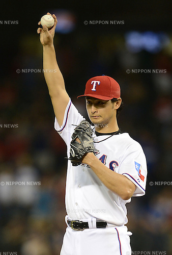Yu Darvish (Rangers),.MAY 16, 2013 - MLB :.Pitcher Yu Darvish of the Texas Rangers during the baseball game against the Detroit Tigers at Rangers Ballpark in Arlington in Arlington, Texas, United States. (Photo by AFLO)