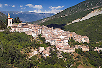 Abruzzo National Park, Italy, June 2008. The Medieval Village of Anvers d'Abruzzi lies on a very spectacular narrow mountain road, with deep cut canyons and steep rock faces. Photo by Frits Meyst/Adventure4ever.com