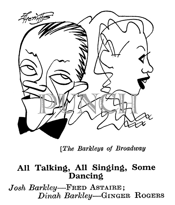 Punch cartoons by Robert Sherriffs..Film Review ;  ..The Barkleys of Broadway ; Fred Astaire and Ginger Rogers........